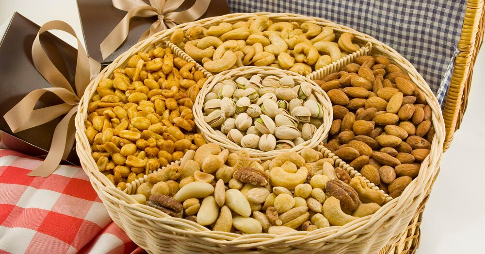 Share the Very Best Five Section Nut Basket